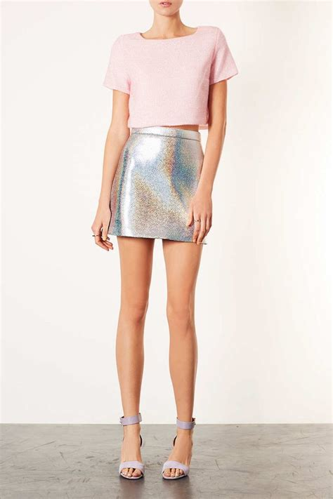 Olly And Suzi Tops At Topshop by Best 25 Silver Skirt Ideas On Silver Metallic