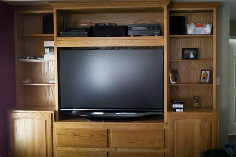 wall units astonishing custom built in tv cabinets custom