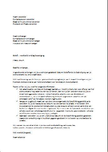 standaard layout zakelijke brief voorbeeld brief ontslag bevestiging