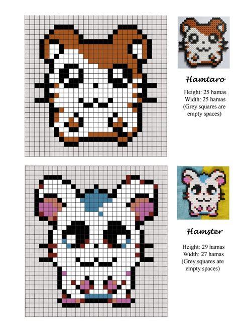 bead pet patterns hamtaro hamster pet hama pattern crafts