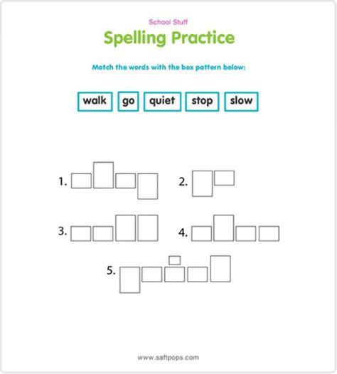 Spelling Practice Worksheets by Saf T Pops Spelling Practice Worksheet Printable