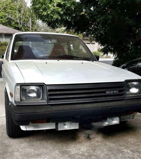 1983 toyota starlet for sale 1983 toyota starlet manual transmission 2 door hatchback