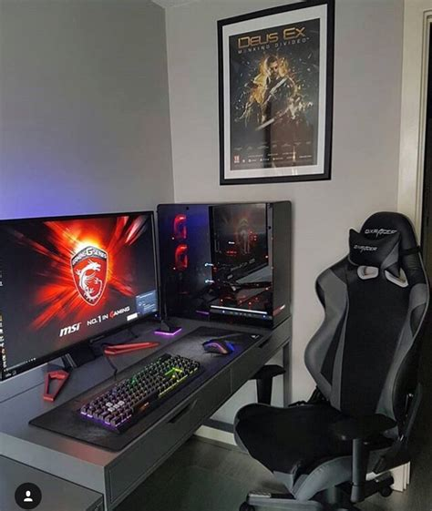 large gaming desk awesome big setup gaming pinterest big gaming
