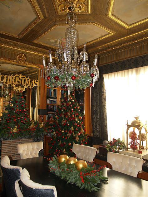 comedor  chimenea adornadas navidad pinterest