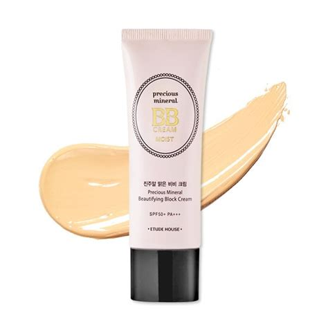 Etude House Precious Mineral Bb Moist Petal Spf50pa etude house bb foundation precious mineral beautifying block moist spf50 pa