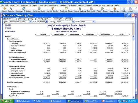 Quickbooks Balance Sheet Template Quickbooks 2011 Discounts New From Quickbooks Premier Balance Sheet By Class