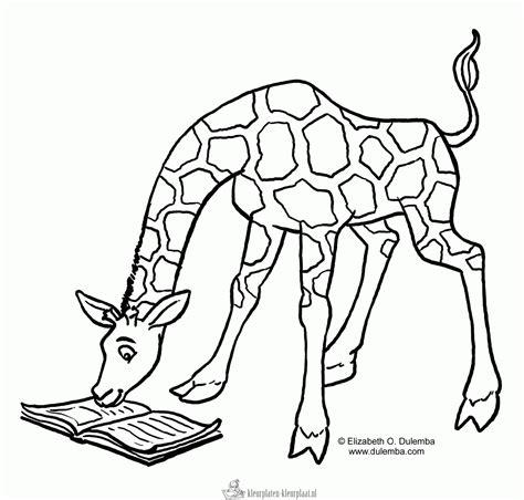 coloring pages of animals reading kleurplaten giraffe
