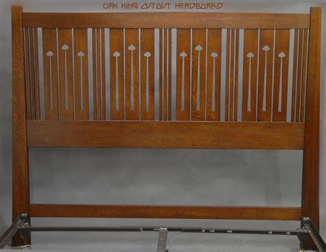 wood work mission style headboard plans   plans