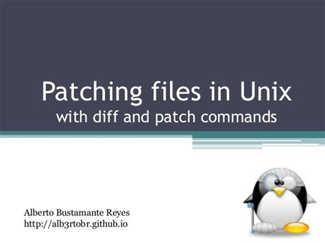github tutorial unix patching files in unix using diff and patch commands