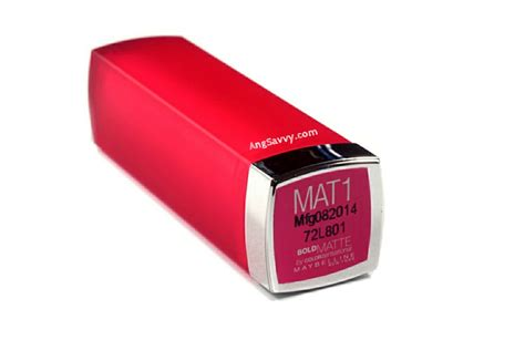 Lipstik Maybelline Color Sensational Bold Matte maybelline bold matte mat 1 color sensational ang savvy