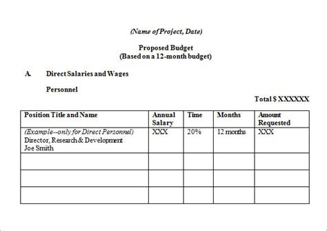 budget request template travel budget template 7 free sles exles format