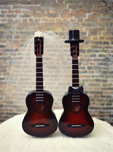guitar wedding cake topper musician wedding cake