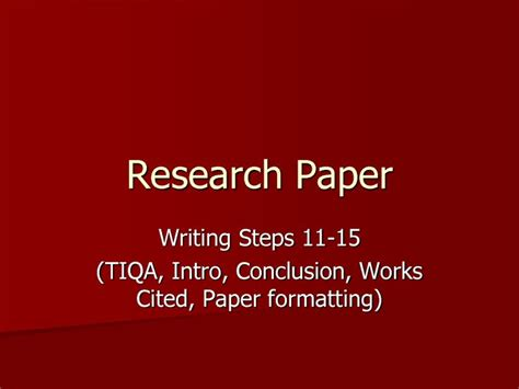 writing a research paper powerpoint creating an outline for a research paper powerpoint