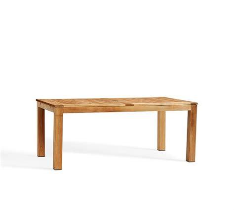 Rectangular Extension Dining Table Madera Teak Rectangular Extending Dining Table Pottery Barn