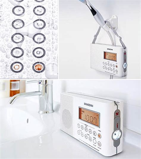 digital radio bathroom sangean h201 digital shower radio tune in audio speakers