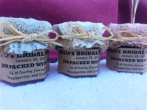 Jam Favors For Bridal Shower by Rustic Country Laced Bridal Shower Jam Favors1 5 Oz Jar W