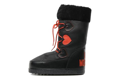 moschino snow boots moschino snow boot c蜩ur ankle boots in black at