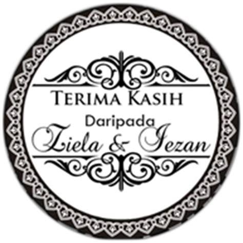 Stiker Label Nama Segi Empat Logo Tag impian kahwin sticker tag untuk sebarang majlis