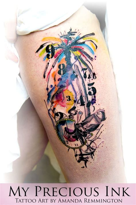 abstract watercolor tattoo watercolor abstract pocketwatch my precious ink