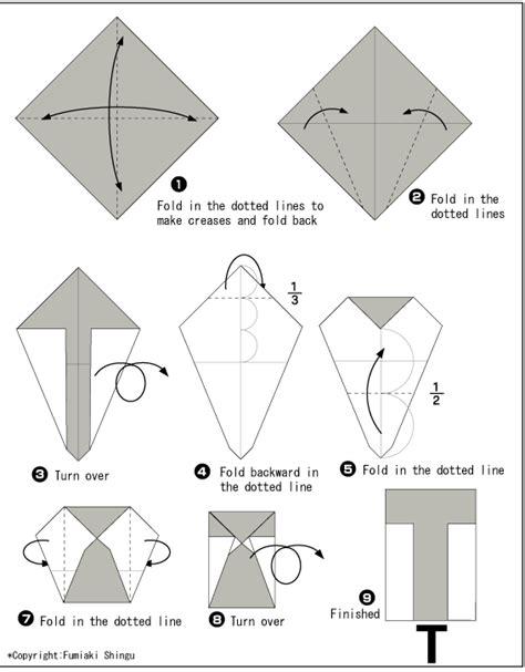 Origami Letter T - origami alphabet t