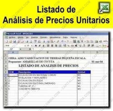 tabulador de precios unitarios 2016 neodata cipu precios unitarios 2016 lista de precios unitarios