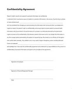 sample patient confidentiality agreement 6 free