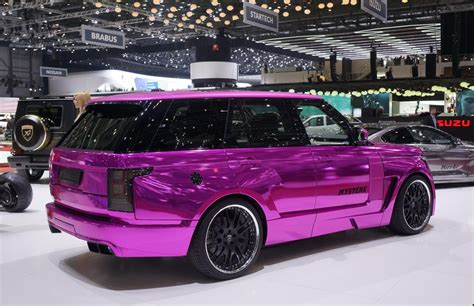 chrome land rover geneva 2013 chrome pink range rover by hamann video