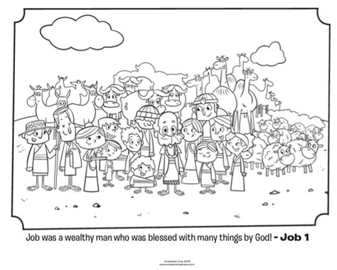 job coloring page whats in the bible