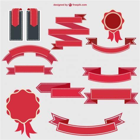 ribbon designer retro ribbons and badges design vector free
