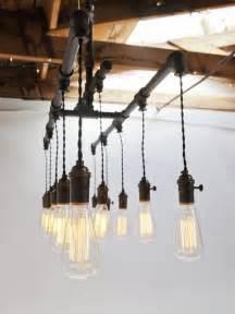 Barn Pendant Light Fixtures Custom Cloth Cord Amp Metal Industrial Chandelier
