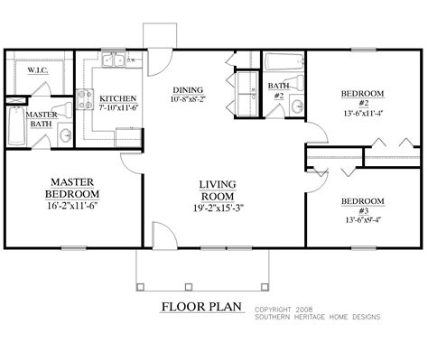 2000 square foot ranch floor plans ranch house plans 2000 square