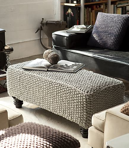 ottoman cover pattern redecorate your home with these clever knitted home decor