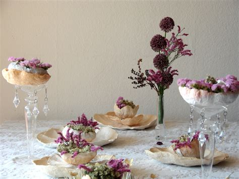 centrotavola fiori secchi eco wedding design fiori di carta e fiori secchi per un