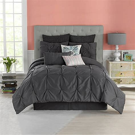 buy anthology whisper twin comforter set in pewter from