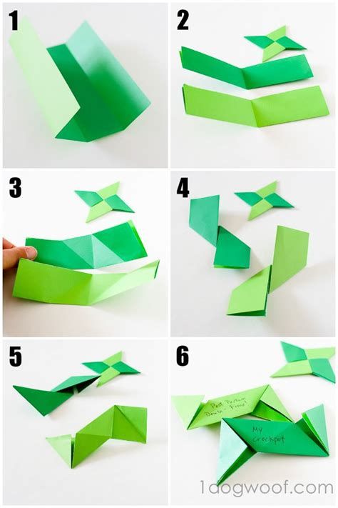 Origami Suriken - origami thankful ornaments one woof