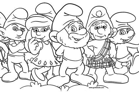 imprimir los dibujos para colorear de narigota pintar con dibujos de los pitufos para colorear pitufos imprimir gratis