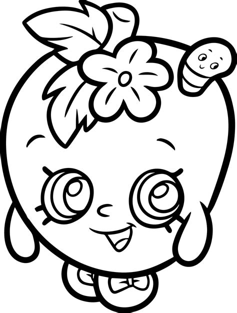 apple blossom coloring page shopkins apple blossom from shopkins coloring page wecoloringpage