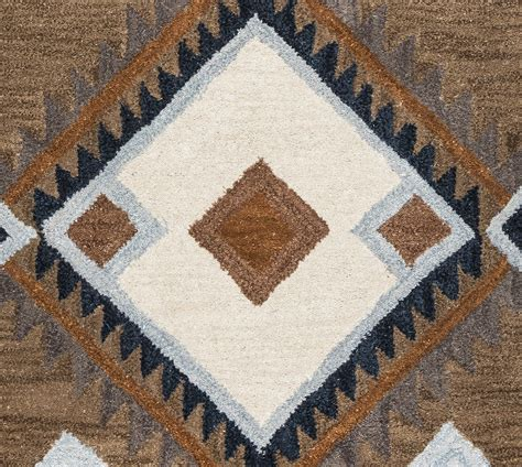 indian print rugs tumble loft indian print wool area rug in blue camel white 8 x 10