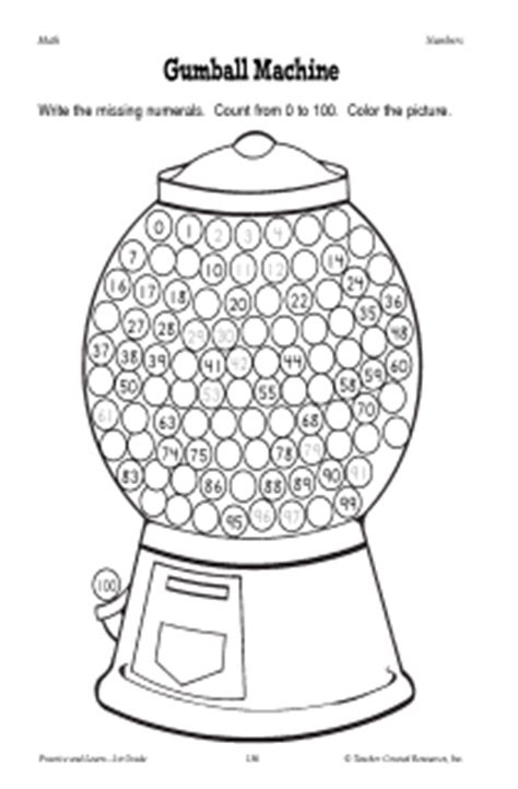 gumball math coloring page gum ball math colouring pages