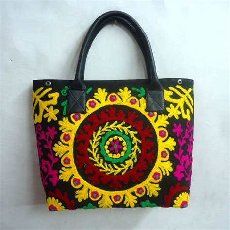 Small Embroidered Shoulder Bag small tote shoulder bag suzani embroidered sku 10009