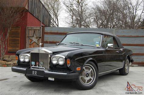 1980 rolls royce corniche ii convertible black beige