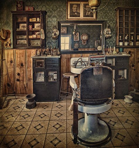 Shop Interior Design Online by Randsburg Barber Shop Interior Photograph By Priscilla Burgers