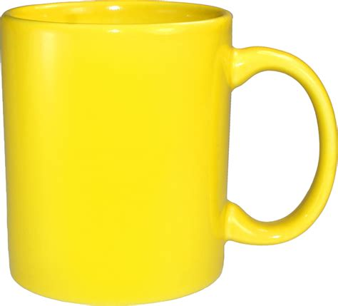 C   Handle Mug, Yellow Vitrified   11 Oz