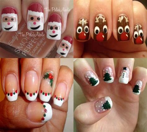 imagenes de uñas decoradas navideñas 2015 u 241 as de navidad decoradas 2014 2015