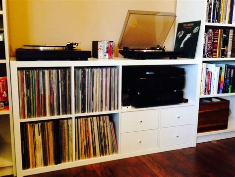 ikea stereo cabinet hack ikea kallax expedit turntable audio storage hacks ikea