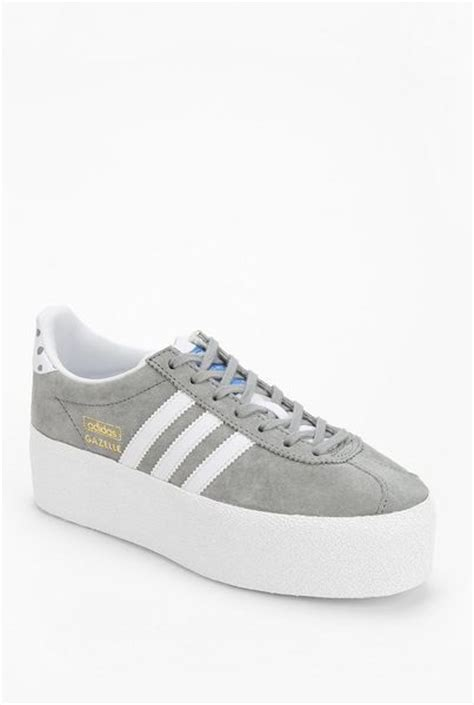 platform adidas sneakers adidas gazelle platform sneaker in gray grey lyst