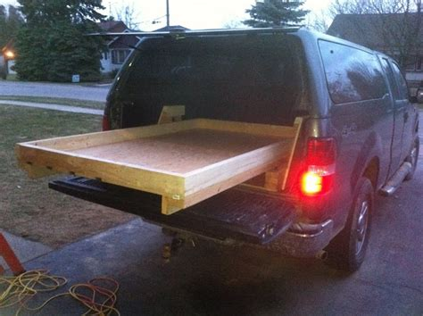truck bed slider homemade truck bed slide out