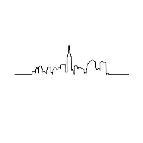city line tattoo best 20 new york skyline ideas on