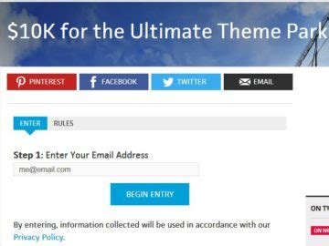 Theme Park Sweepstakes - sweepstakes contests giveaways 2017
