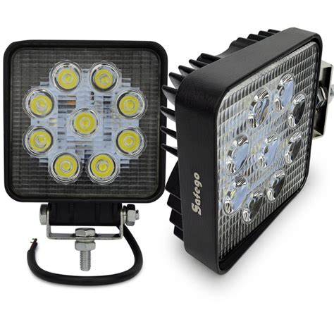2pcs Motorcycle Led 27w Flood Spot 4 Inch 27w Work Light Led Lights 12 Volt